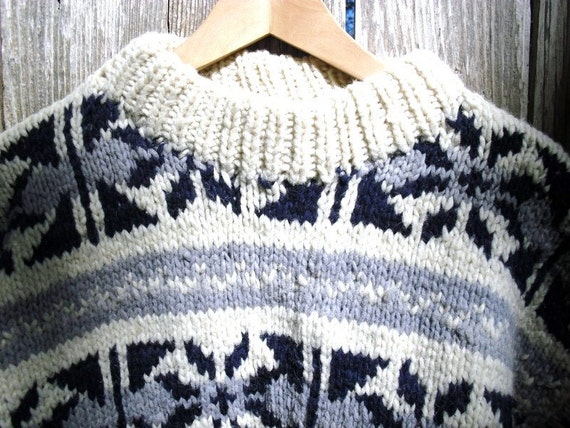 toasty warm wool sweater handmade in ecuador