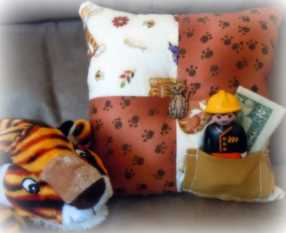 Tooth Fairy Pillow in Adorable Cat Print