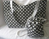 Mother Daughter or Son X-Large Beach Tote 16 in x 13 in and Book Bag