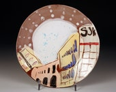 Warehouse and Dot Ceramic Plate