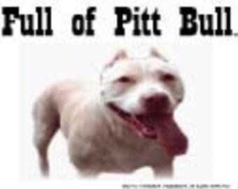 Pitt Bull (White) tea towel, funny gift