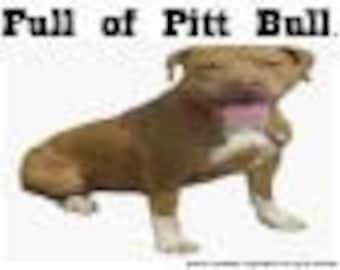 Pitt Bull (Brown) tea towel, funny gift