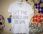 Let The Rebellion Begin- Catching Fire- Tshirt- ON SALE