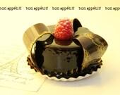 French Chocolate Ganache Dessert From A Paris Pâtisserie - Paris Sweets - Fine Art Photography - 8x10 Print