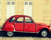 Little Red Car - Paris, France - Fine Art Travel Photography - 8x10 Print