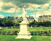 Carrousel And Statue In The Tuilieries Garden - Paris, France - Paris Fine Art Photography - 8x10 Print