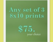 Any Set of 3: 8x10 Prints - The Paris Collection - Fine Art Photography