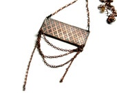 RESERVED - FISHNET Queer Glam Etched and Oxidized Copper Necklace