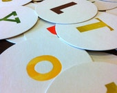 Alphabet Coasters - Pick your own set of 5