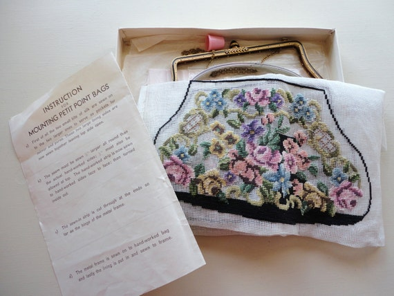 vintage petit point purse kit