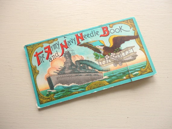 the army and navy needle book vintage case