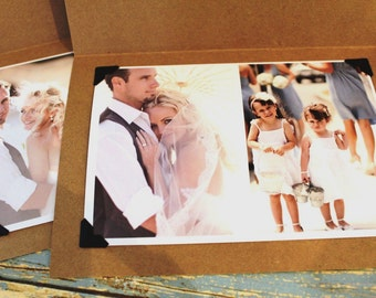 and they lived happily ever after... Rustic Wedding Thank you Photo Cards