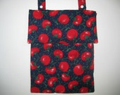 Eco friendly Navy blue red Wet bag Kitchen tomato unpaper towel waterproof hanging