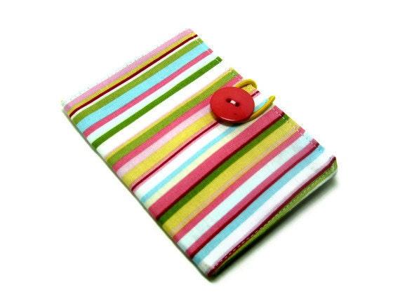 Tea Wallet, travel tea summer stripe yellow