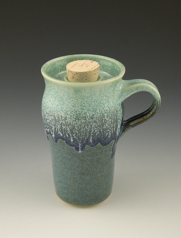 Pottery Travel Mug Cork