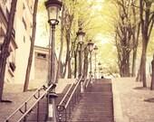 Les Escaliers de Paris - 8x8 Print - Photography of Paris, Paris Wall Art, Home Decor, Architecture, French Decor, Parisian Mood, Montmartre