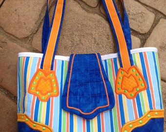 Applique/Embroidered Small Tote Bag
