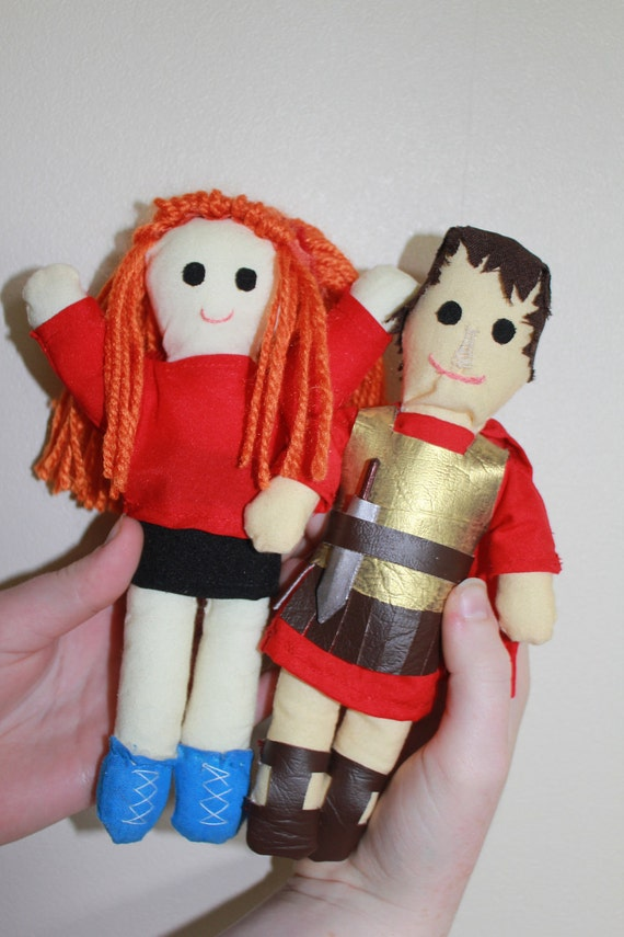 Amy Pond & Rory the Roman Doctor Who Plushie Doll