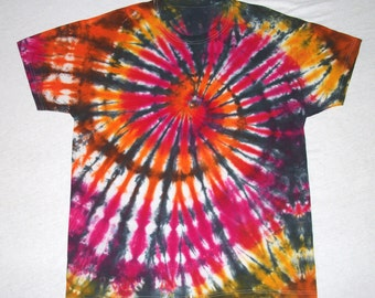 Adult Large Tie Dye Tee Shirt with Black