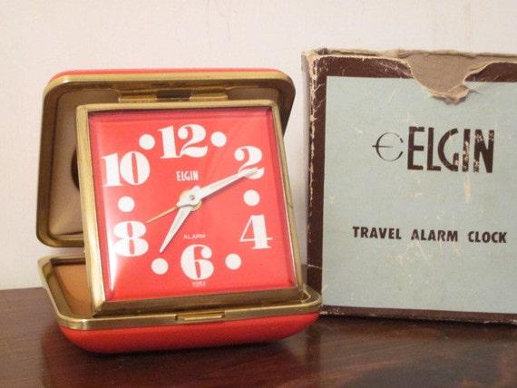 Sale- Elgin travel alarm clock (just twist)