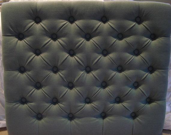 Diamond Tufted Linen Headboard Twin