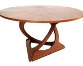 Rare Mid Century Modern Danish Teak Twist Base Table by Soren Georg Jensen for Kubus