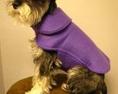 Purple Fleece Dog Coat Jacket Cape