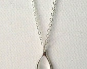 Wishbone Necklace in Sterling Silver, Lucky Charm, Make a Wish