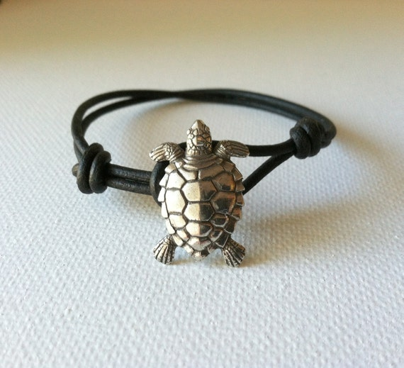 Sea Turtle Bracelet, Charm Bracelet,  Wish Bracelet, Good Luck- Available in 6 color choices