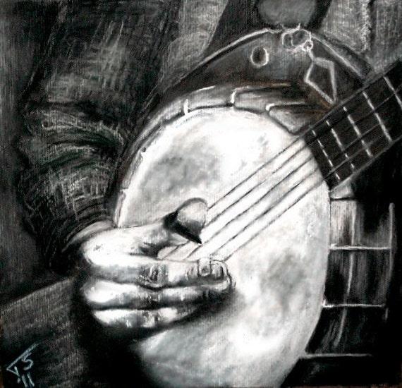 Banjo Pickin' Print