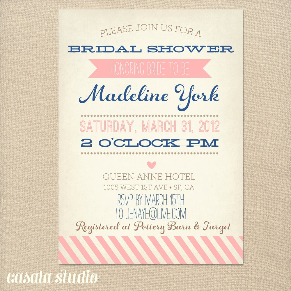 free bridal shower templates - vintage bridal shower invitation baby shower by casalastudio