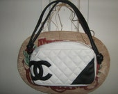 Black and White Coco Chanel Bowler bag  Purse....HOLD FOR Brooke until March 15th...