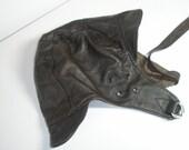 Vintage Helmet in  Brown  Leather, OOAK