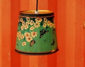 Industrial Hanging Light - Vintage Butterfly Flower Trash Can Hanging Lamp