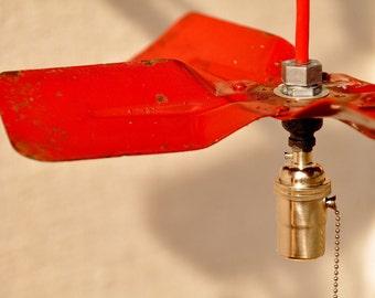 Industrial Pendant Light - HOT ROD Fan Blade Industrial Pendant Light