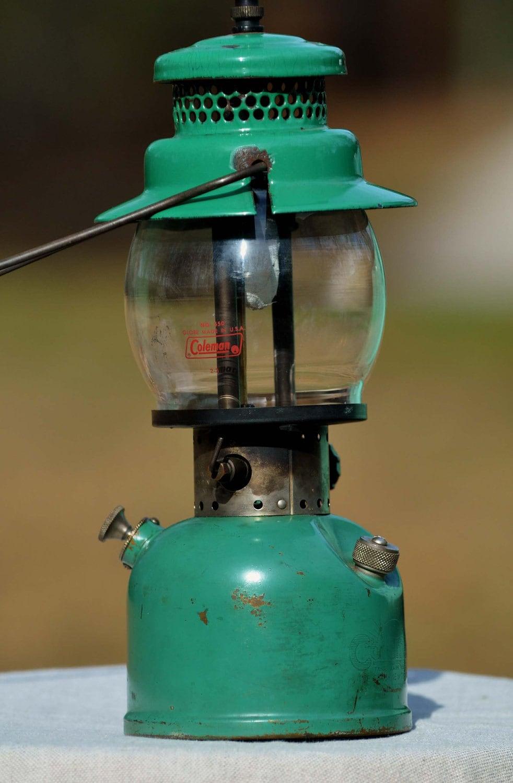 Coleman Lantern Vintage Enamelware Green