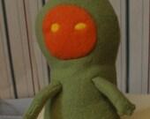 Flatwoods Monster Plushy - Green, orange, and yellow