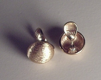 Monet gold button earrings, clip ons
