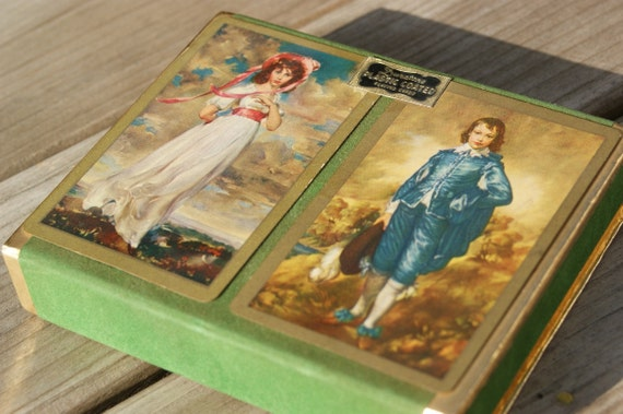 Blue Boy and Pinkie Duratone Playing Cards