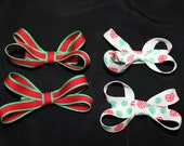 Christmas Boutique Hair Bow Set of 4 Bows