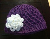Lattice Hat (shown with Rosa Flower, optional)