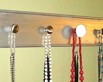Jewelry Holder made from Repurposed Wood and Vintage Knobs
