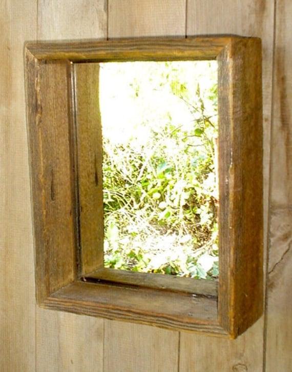 Mirrored Shadow Box Reclaimed Barnwood