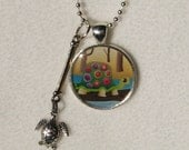 SALE Turtle woodland animal necklace with charm jewelry