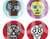 Day of the Dead 1 inch Circle Digital Printable