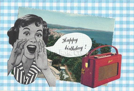 Happy Birthday Cards Retro Happy Birthday Retro