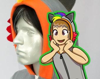 Rainbow Raccoon Hoodie, Costume, Cosplay, Adult Size, Hand-made