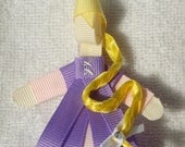 Disney Princess Rapunzel Ribbon Sculpture Hair Clip