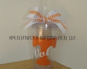 Personalized Custom Acrylic Tumbler-Tennessee Vols-Tennessee- UT