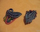 Pastel Rainbow Painted Earrings